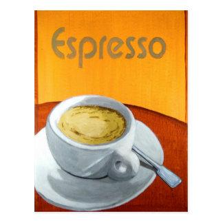 Vintager Espresso-Kaffee Postkarte