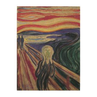 Vintager Expressionismus, der Schrei durch Edvard Holzwanddeko