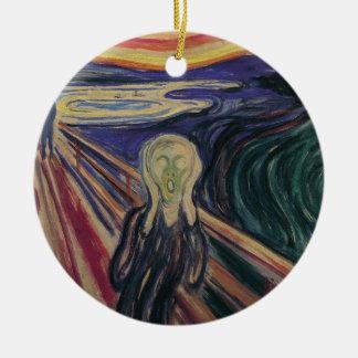 Vintager Expressionismus, der Schrei durch Edvard Keramik Ornament