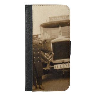 Vintager Falmouth-Geldbörsentelefonkasten iPhone 6/6s Plus Geldbeutel Hülle