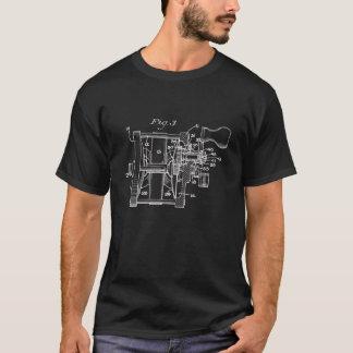 Vintager Fischen-Spulen-Kunst-T - Shirt