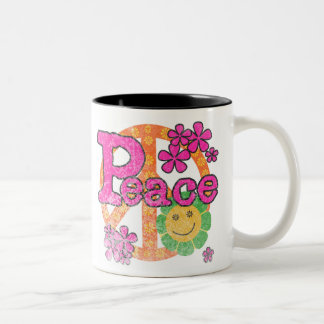 Vintager Frieden Zweifarbige Tasse