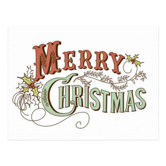 Vintager frohe Weihnacht-Gruß Postkarte
