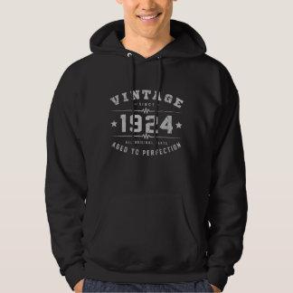 Vintager Geburtstag 1924 Hoodie