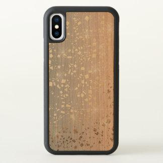Vintager gedämpfter Goldstern-Folien-Schein des iPhone X Hülle
