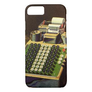 Vintager Geschäfts-Buchhalter, Buchungsmaschine iPhone 8/7 Hülle