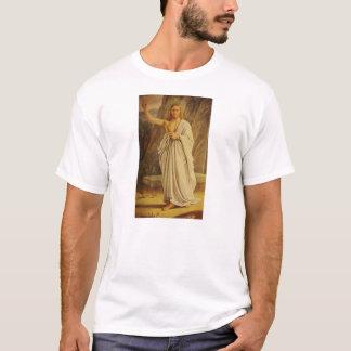 Vintager gestiegener Jahreszeit-T - Shirt Christus
