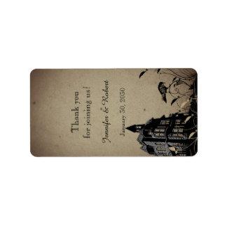 Vintager gotischer adressaufkleber