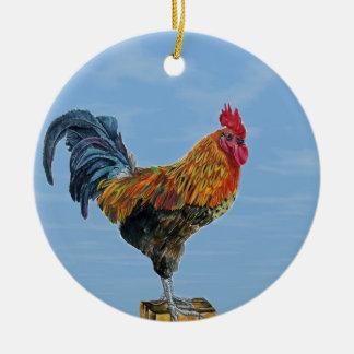 Vintager Hahn-Himmel fertigen Tierhuhn besonders Rundes Keramik Ornament