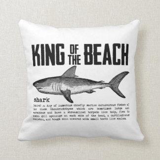 Vintager Haifisch-Strand-König Kissen