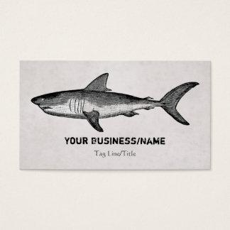Vintager Haifisch-Strand Visitenkarte