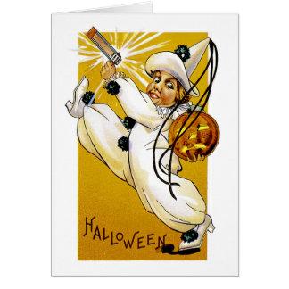 Vintager Halloween-Clown Karte