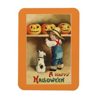 Vintager Halloween-Junge Magnet