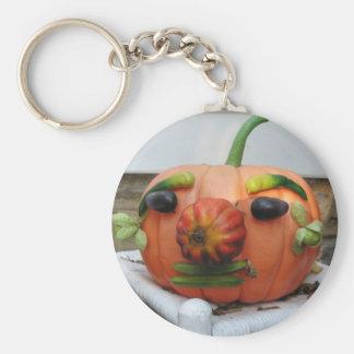 Vintager Halloween-Kürbis Keychain Schlüsselanhänger