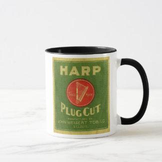 Vintager Harfen-Stecker-Schnitt-Tabak Tasse