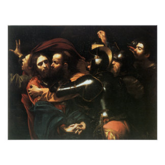 Vintager heiliger Jesus Christus, Judas Kuss, Poster