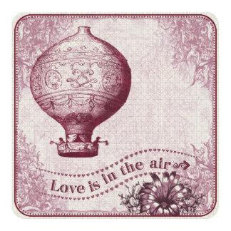 Vintager Heißluft-Ballon Burgunder VHZX Karte