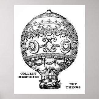 Vintager Heißluft-Ballon Poster