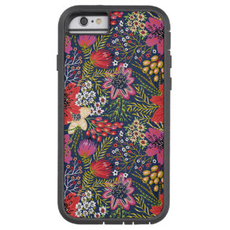 Vintager heller Blumenmuster-Gewebe iPhone 6 Fall Tough Xtreme iPhone 6 Hülle