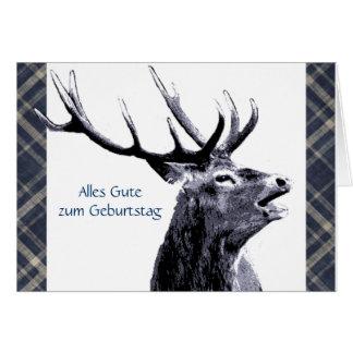 Vintager Hirsch Alles Gute zum Geburtstag Karte