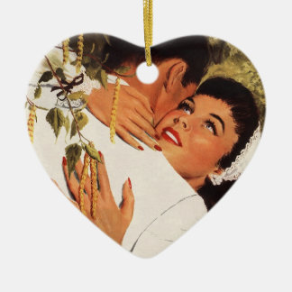 Vintager Hochzeit Antrag, Liebe und Romance Keramik Herz-Ornament