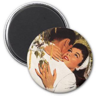 Vintager Hochzeit Antrag, Liebe und Romance Runder Magnet 5,1 Cm