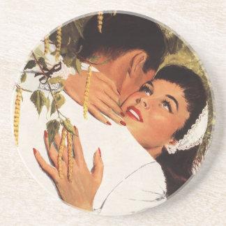 Vintager Hochzeit Antrag, Liebe und Romance Sandstein Untersetzer