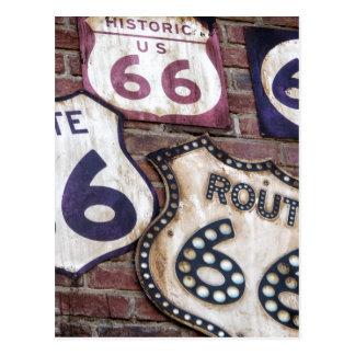 Vintager Iconic Weg 66 Postkarte