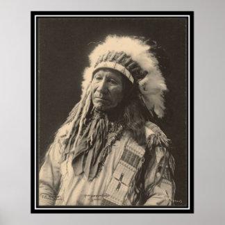 Vintager Inder: Amerikanisches hauptsächlichpferd, Poster