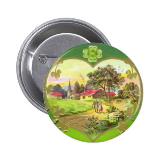 Vintager Iren-St Patrick Tagesknopf Runder Button 5,7 Cm