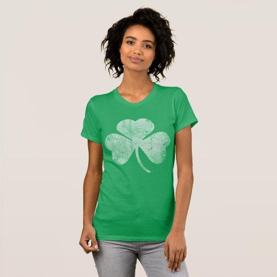 Vintager irischen Kleeblatt-St Patrick Tag T-Shirt