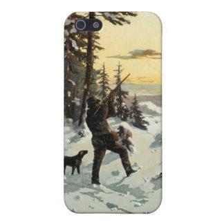 Vintager Jagd-Hundegewehr-Kunst-Apple iPhone 5 Fal Etui Fürs iPhone 5