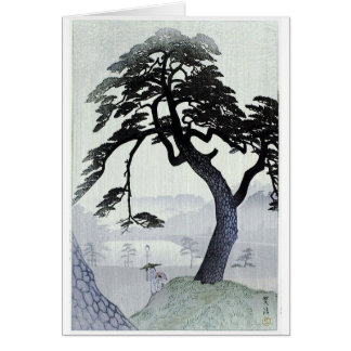 Vintager japanischer Baum Karte