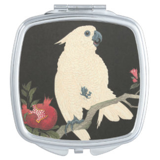 Vintager japanischer feine Kunst| Cockatoo Schminkspiegel