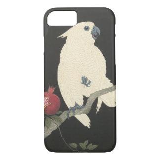 Vintager japanischer feiner Kunst| weißer Cockatoo iPhone 8/7 Hülle
