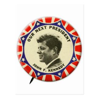 Vintager JFK John Kennedy Knopf unser folgender Postkarte