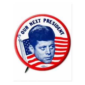 Vintager John Kennedy unser folgender Präsident Postkarte