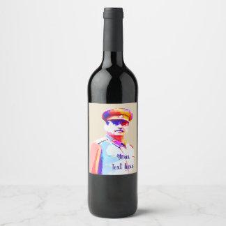 Vintager Josef Stalin WW2 Russland Diktator Weinetikett