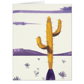 Vintager Kaktus in der Wüste Karte