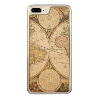Vintager Karte iPhone Fall Carved iPhone 8 Plus/7 Plus Hülle