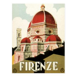 Vintager KircheDuomo Reise-Florenz Firenze Italien Postkarte