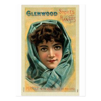 Vintager Kitsch viktorianische Glenwood Postkarte