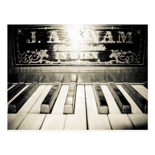 Vintager Klavier-Druck Postkarte