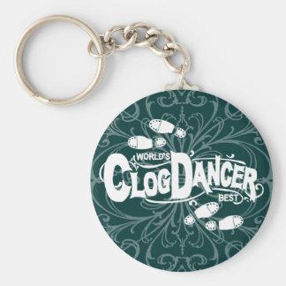 Vintager Klotz-Tänzer-verstopfenschuhe Schlüsselanhänger