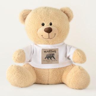 Vintager Kodiak-Lachs-Aufkleber Teddy