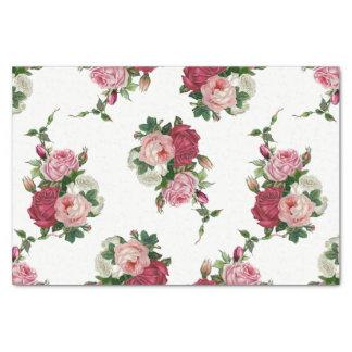 Vintager Kohl-Rose-Weißer Hintergrund Seidenpapier