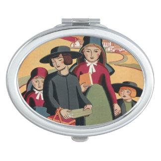 "Vintager kompakter Spiegel ""Pennsylvanias"" Taschenspiegel"