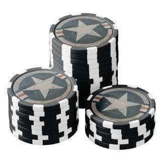 Vintager Korps-Stern der Luft-WW2 Pokerchips