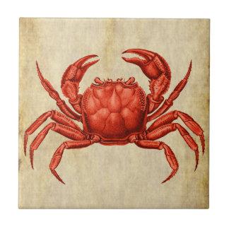 Vintager Krabben-Entwurf Keramikfliese