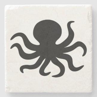 Vintager Kraken-Illustrations-Stein Steinuntersetzer
